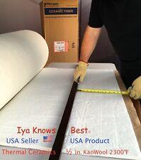 "Kaowool Thermal Ceramics Fiber Insulation Blanket 1/2""x4""x20"" 8# Muffler Stove"