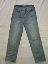 SIGNATURE LEVI STRAUSS WOMEN'S SIZE 2 *ANKLE STRIAGHT*  DISTRESSED (26 X 25)