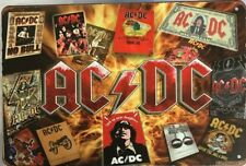 ACDC Rustic Look Vintage Tin Metal Sign Man Cave, Shed-Garage & Bar Sign