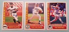 1992 Score Hot Rookies Insert 3 Card Lot; Clayton, Van Poppel, Martinez!!