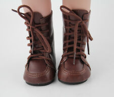 """Doll Shoes Vintage Brown Leather Shoes Boots Fit 18"""" American Girl Accessories"""