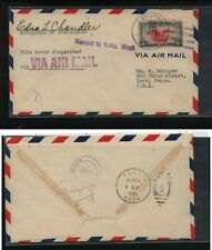 US  Alaska  ,  Eklutna     airmail cover  1941,     MS0220