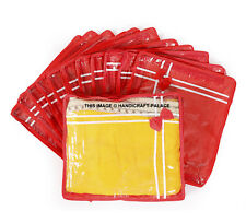 ( 12 PC)Oneside Clear Plastic Clothes Sari Saree Garment Storage cover Bags Red