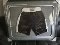 Muhammad Ali, LaMotta, Joe Frazier, Spinks,Martin, WBC signed framed Trunks JSA