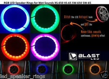 RGB MultiColor LED Speaker Rings for WetSounds XS-65 XS-650 SW-65 SW-650 REVO6