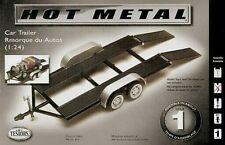 Testors Tandem Axle Car Trailer model kit diecast metal 1/24 and 1/25 scales
