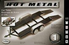 Testors Tandem Axle Car Trailer model kit diecast metal 1/24 and 1/25 scales