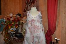 robe doublee jean bourget en soie 4 ans fleurs  fondues