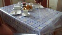 Tischdecke Glasklarfolie 0,1mm 110x140cm transparent Tischschutz Tischfolie