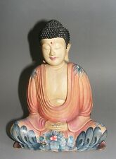Buddha*Bali*fein bemalt*Vögel*Natur*Meditation*Feng Shui*Handarbeit*Unikat*Neu