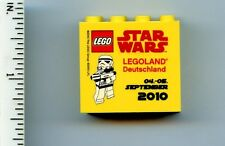LEGO Promo Yellow Brick 2 x 4 x 3 with Legoland Deutschland Star Wars 2010