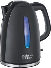 Russell Hobbs Textures Plus Wasserkocher Schwarz, schnurlos, 1,7ltr.  2400W.