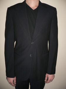 Giorgio Armani Men Classic Black Wool 2pcs Suit Set Jacket Pants Size 50R Medium