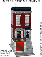 Lego Custom Modular Building - City Townhouse -INSTRUCTIONS ONLY 10197 Alternate