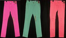 ARIZONA Ripped Super Skinny Jeans Straight Leg Shredded Colored Pants Plus Sz