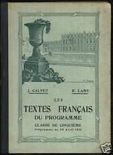 CALVET & LAMY - LES TEXTES FRANCAIS DU PROGRAMME -