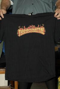 Thrash Metal t shirt logo XL Near Mint flaming logo thrashmetal mega cool