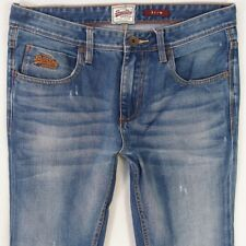 Mens SuperDry SLIM Blue Jeans W32 L34
