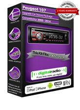 PEUGEOT 107 DAB+ RADIO LETTORE CD Autoradio Pioneer SUONA IPOD IPHONE USB AUX
