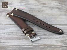 Cinturino in Pelle LS CUOIO VINTAGE 18 19 20 Watch Strap Band Testa di moro