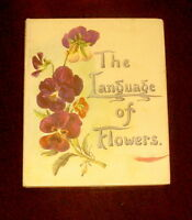 ' THE LANGUAGE OF FLOWERS  '  by F.W.L. :  Facsimile dition 1983 : illustrated
