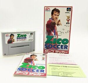 """Zico Soccer Nintendo SENS Super Famicom """"SFC"""" original box + Manual 1994 Japan"""