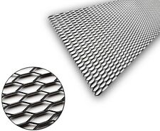 1x Black Aluminium Grille Grill Mesh Net Vent Bumper 30x10mm 100x40cm