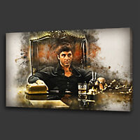 TONY MONTANA SCARFACE FILM MODERN WALL ART CANVAS PRINT PICTURE READY TO HANG