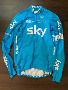 Rapha Jersey Long Sleeve Team Sky Rider Issued Large Blue Tour de France Froome