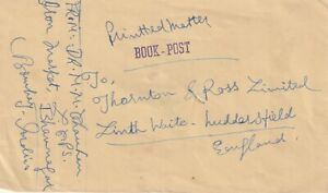 1958 India cover sent from Bombay to Huddersfield England