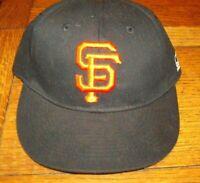 San Francisco Giants Team MLB Youth Size Adjustable Hat - Black OC Sports New!
