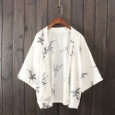 Lady Cardigan Japanese Kimono Thin Sunscreen Dragonfly Print Chiffon Blouse Tops