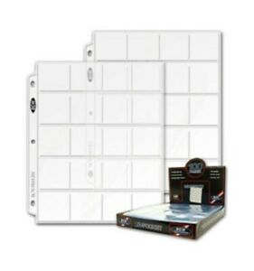 Box of 100 BCW 20-Pocket Album Pages for 2x2 Coin Flips 3-ring binder sheets