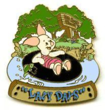 Disney Pin 1879 WDW Seasonal Series Lazy Days Piglet Inner Tube River Floats LE