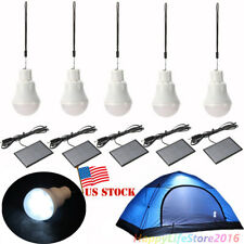 5 x Portable Solar Power LED Bulb Lamp Outdoor Lighting Camp Tent Fishing Light