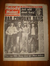 MELODY MAKER 1974 OCT 19 BAD COMPANY JETHRO TULL ELTON