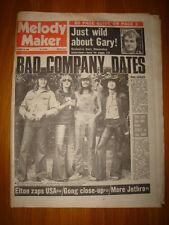 MELODY MAKER 1974 OCT 19 BAD COMPANY JETHRO TULL ELTON