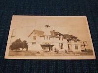 Vintage RPPC Real Photo Postcard WHITE CITY KANSAS High School Building 2 cent