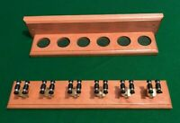 SNOOKER/POOL BEECH HAND CRAFTED 6 CUE RACK.. EASY ASSEMBLY