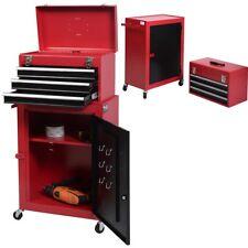 2pc Mini chariot à outils Servante d'atelier rouge coffre et armoire de rangemen