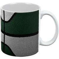 Championship Basketball Forest Green & White All Over Coffee Mug