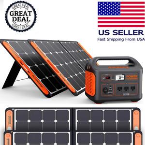 2000W Peak Solaire Générateur W / (2) 100W Extérieur Panneaux Bouton Start Neuf