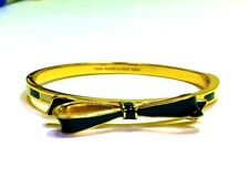 Kate Spade Love Notes Bow Hinged Bangle Nwt Black and White Color Block