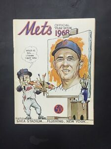 1968 New York Mets Yearbook Nolan Ryan Rookie Nice Team Page Loose Nm