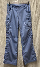 NrG By Barco Ciel Blue Size Xs Scrub Pants Elastic With Drawstring