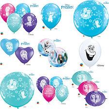 DISNEY FROZEN Qualatex Latex & Bubble Balloons (Birthday/Party) - Anna,Elsa,Olaf