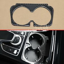 For Mercedes X253 C253 W205 A205 W213 S213 Carbon Fiber Cup Holder Interior Trim