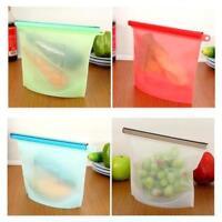Reusable Seal Silicone Food Fresh Bag Vacuum Sealer Fruit Meat Storage Bags Milk