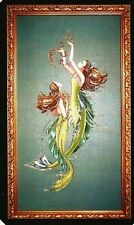 "SALE!  COMPLETE XSTITCH MATERIALS ""MERMAIDS OF THE DEEP BLUE"" MD85 by Mirabilia"