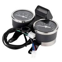 Motorcycle 12V LED Digital Speedometer Odometer Tachometer for Suzuki GN125 HG